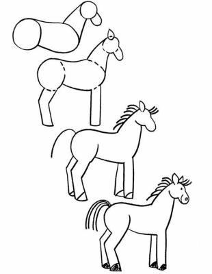 Comment dessiner un cheval blog de fanache de rutel - Comment dessiner un cheval facile ...